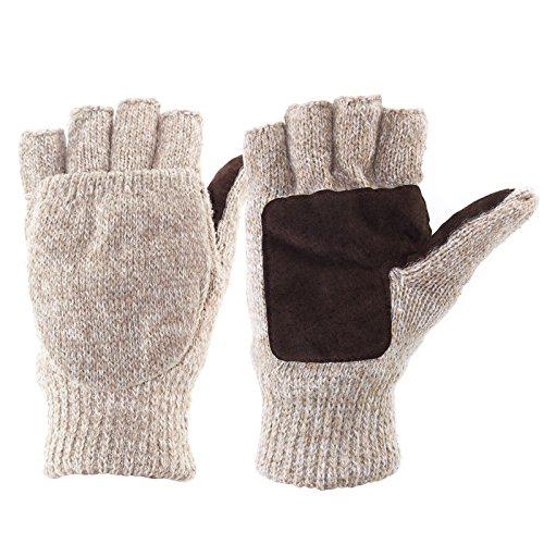 Metog+Suede+Thinsulate+Thermal+Insulation+Mittens+%2CGloves+%28M%2C100g%2C+Beige+White%29