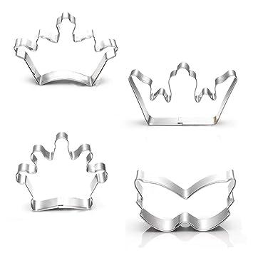 Crown Cross Mask cortador de galletas, 3.5 pulgadas, 3 pulgadas, 5 piezas,
