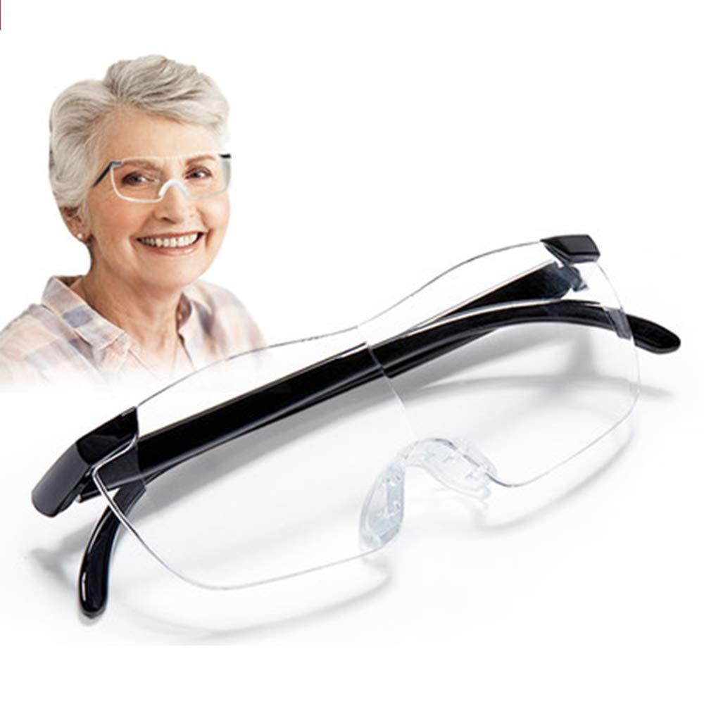 Aooeou Gafas de Lectura 2,5 Lupa 160/% para Hombre Mujer Mayores Ayuda Visual Manos Libres para Movil Telefono Libro Leer