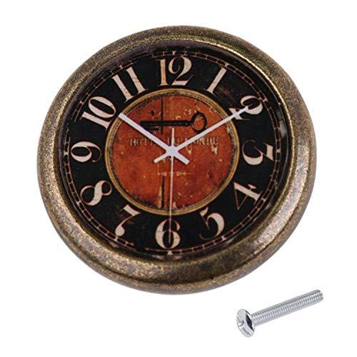 Classic Clock Door Drawer Bin Pull Knob Closet Wardrobe Handle - Retro Key