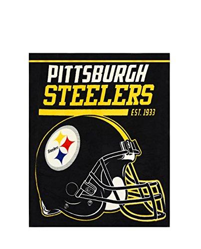 NFL Pittsburgh Steelers 40-Yard Dash Micro Raschel Throw, 46