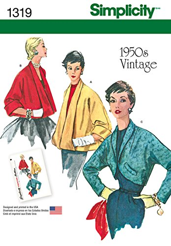 Simplicity 1950's Vintage Pattern 1319 Misses Set of Jackets Sizes 6-8-10-12-14