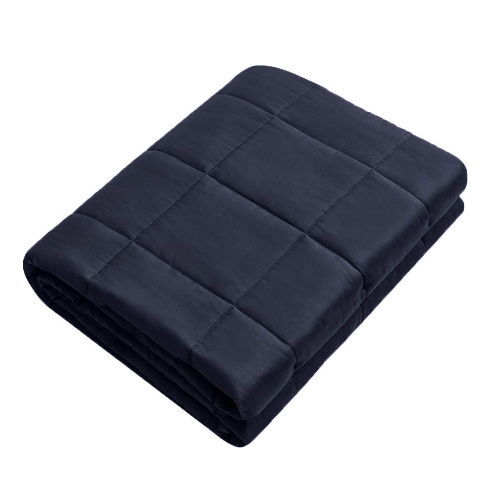Weighted Idea Weighted Blanket | 7 lbs | 41''x60'' | Navy Blue | for Youth and Kids | Occupational Therapy for Anxiety, Insomnia, Autism, ADHD | Fit Twin/Full Sized Bed