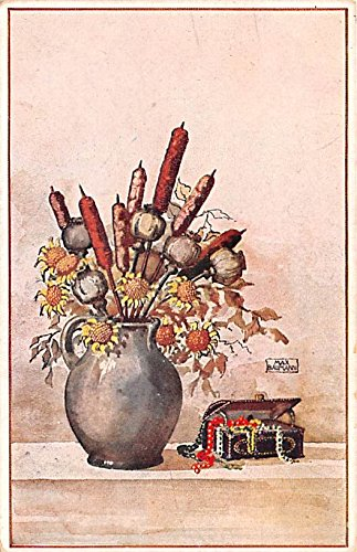 Max Baumann Blumen in Vasen Germany Postcard