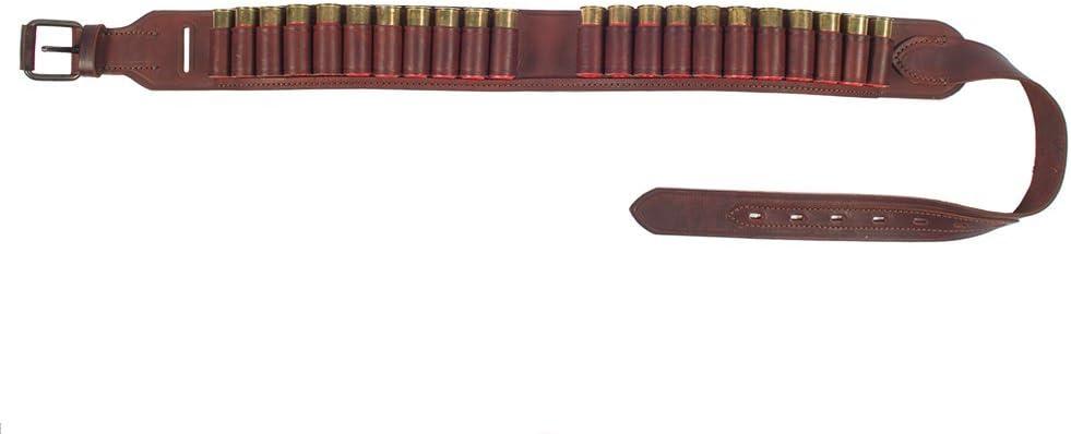 VlaMiTex Cartuccera Calibro 12 per 22 Cartucce da Caccia in Pelle Marrone//Nero