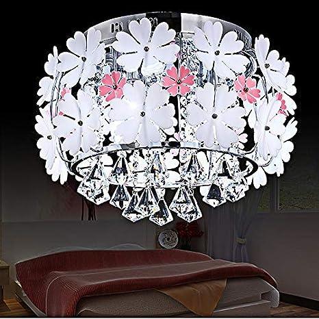 Ceiling Lights & Fans European Garden Living Room Ceiling Lamps Girl Childrenroom Ceiling Lights Wedding Room Bedroom Lamp Flower Led Ceiling Light