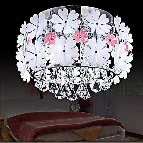 Kids Chandeliers for Girls Room LED White Crystals Flower ...