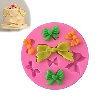 Hilai Molde de silicona para decoración de tartas, 8 mini lazos: Amazon.es: Hogar