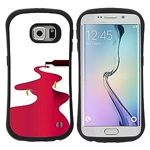"""Pulsar iFace Series Tpu silicona Carcasa Funda Case para Samsung Galaxy S6 EDGE / SM-G925(NOT FOR S6!!!) , Río Vino Tinto Minimalista Blanca"""""""