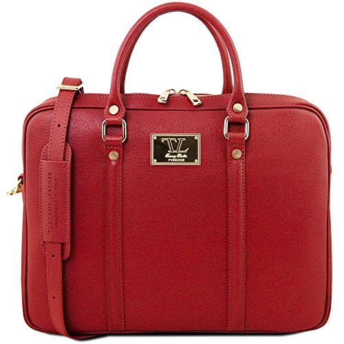 Compact Donna Borsa Tl141626 Rosso Leather A Tuscany Spalla Z4UBqOc