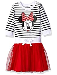 Disney Little Girls' Minnie Mouse Stripe Dress