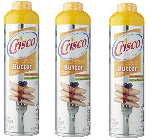 Crisco Butter Flavor Non Stick Cooking Spray- 3 Pack (Best Popcorn Butter Spray)