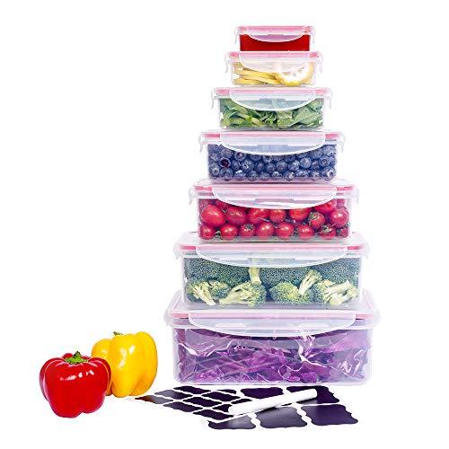 Large Food Storage Box, CASALINGO Plastic Microwave Bento box Outdoor Picnic Eco Friendly Freezer Lunch box