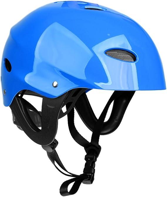 monkeyjack seguridad protección deportes acuáticos casco de wakeboard kite surf kayak esquí Jet Ski Stand Up gorro de remo pantalla duro Cap – varios colores, Azul: Amazon.es: Deportes y aire libre