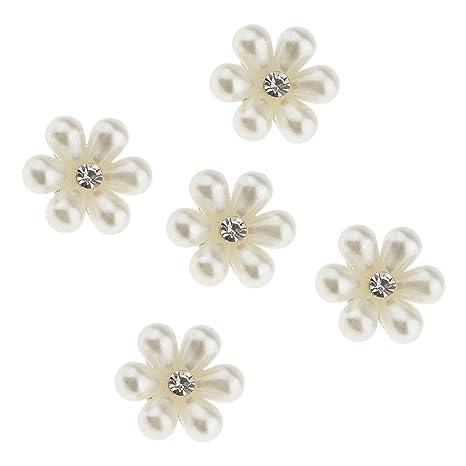 MagiDeal 5 Piezas Botones Embellecedores de Perlas Cristal para Arte de Coser 18 mm