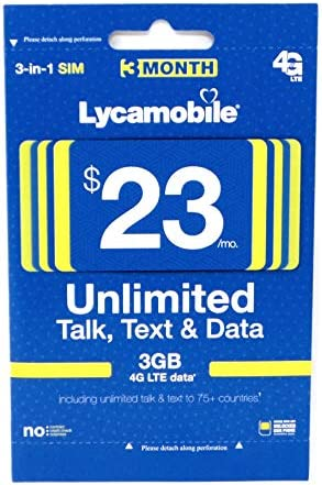 Lycamobile Prepaid Include Month Service product image