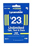 Lycamobile $23 Plan Prepaid Sim Card Include 3 Month Service