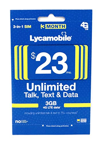 Lycamobile $23 Plan Prepaid Sim Card Include 3 Month Service (The Best Prepaid Plans)