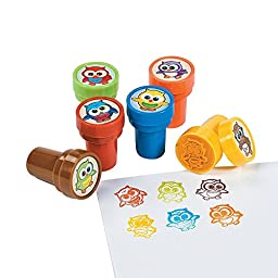 Fun Express Owl Stampers Party Favor Stamps - 24 Pieces