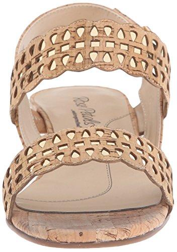 Metallic Pétalos de Dorado metálico rosa láser Sandalias vestir Corcho corte de Walking Cradles Dorado de Mujeres Jolie de 0rSrwq