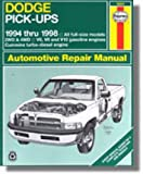 NOS-H30041 Dodge V6 V8 V10 Pick-Ups Repair Manual 1994-2001 Haynes