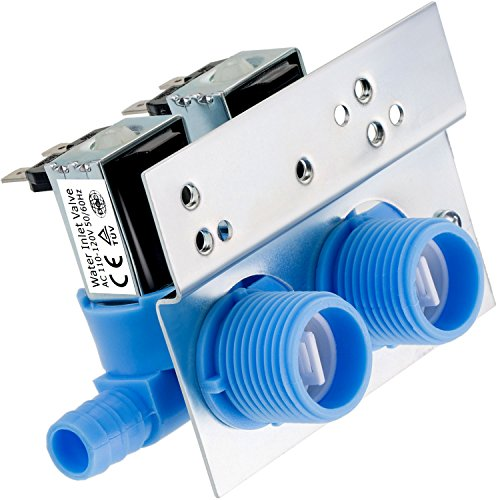 Maxdot 1 Piece 285805 Water Inlet Valve with Mounting Bracket for Clothes Washer 110 VAC/ 120 VAC, Works with Whirlpool, Maytag, Alliance, GE, Kenmore, Amana, Admiral and More by Maxdot (Image #2)
