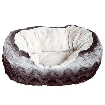 Rosewood 40 guiños Snuggle Mascota Cama, Gris/Crema P: Amazon.es: Productos para mascotas