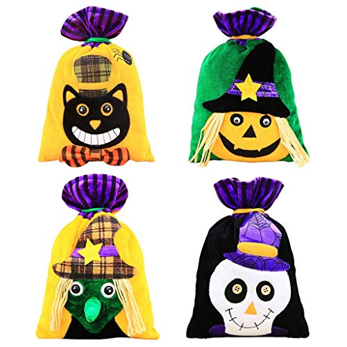 Candy Bags Kids,SIX-SEVEN Candy Gift Bag Children Arts & Crafts,Event Supplies Pumpkin Decoration Skull Witch Cat Candy for Halloween Party Birthdday Decorations-8 PCS/ 2 Set,Candies Bag