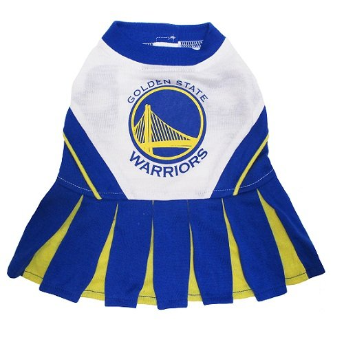 Pets First NBA Golden State Warriors Dog Cheerleader Dress, Small (Golden State Warrior Cheerleader Costume)