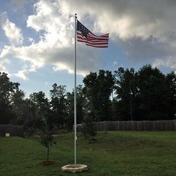 Amazon Com New 30 Sectional Aluminum Flagpole Usa Flag