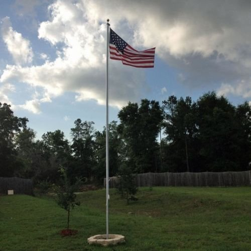25 Foot Sectional Aluminum Flagpole