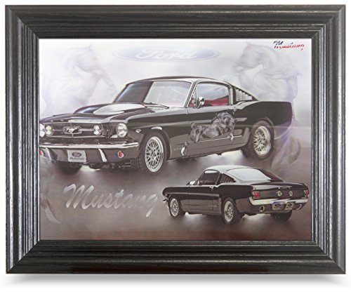 MUSTANG 3D FRAMED Holographic Wall Art-Lenticular Technology Causes The Artwork To Have Depth and Move-HOLOGRAM Style Images-HOLOGRAPHIC Optical Illusions By THOSE FLIPPING PICTURES