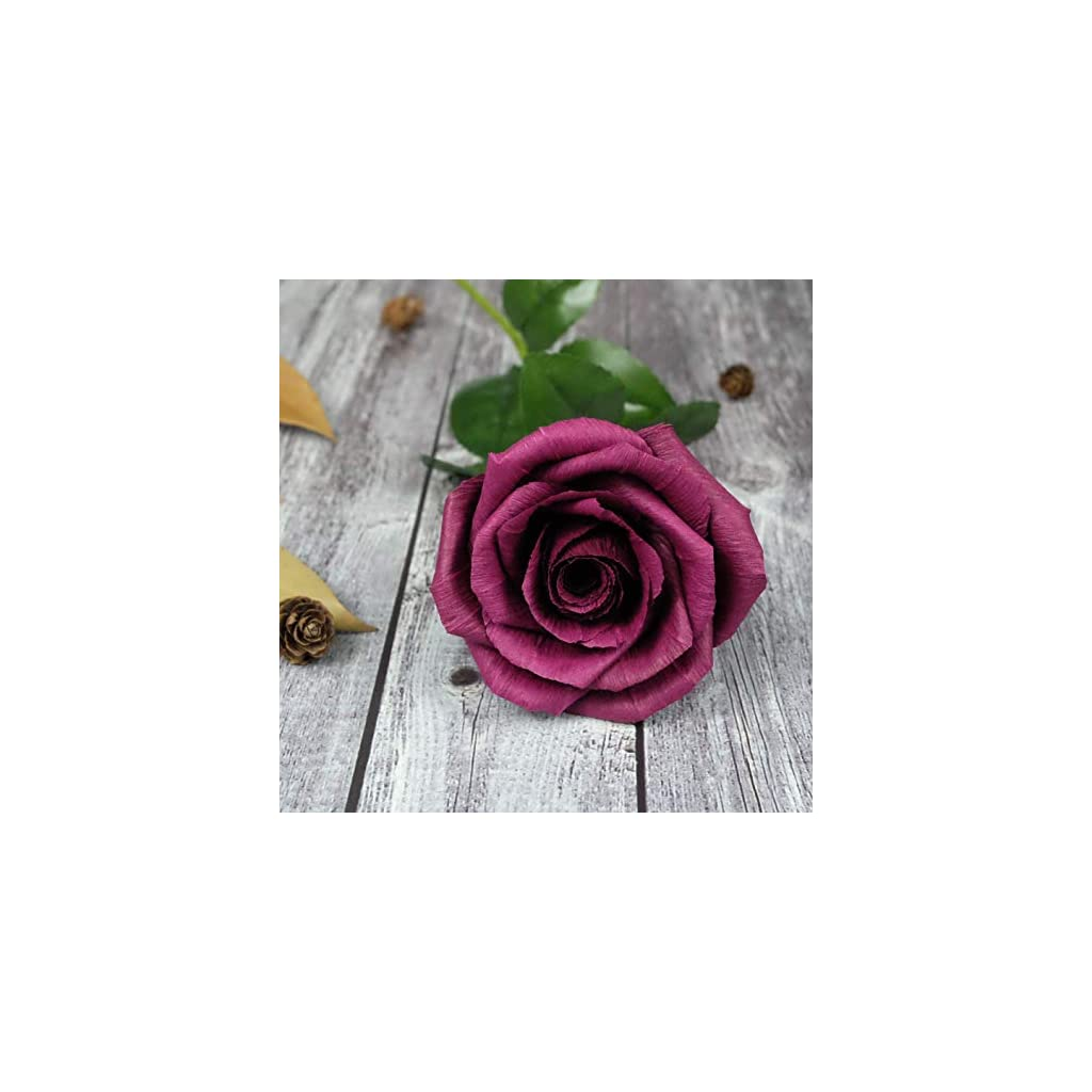 Burgundy-Paper-Rose-Anniversary-Paper-Gifts-for-Her-Handmade-Realistic-Crepe-Paper-Flowers-for-Wedding-Birthday-Christmas-ValentineMothers-Day-Dark-Red-Wine-Color-01-Single-Long-Stem