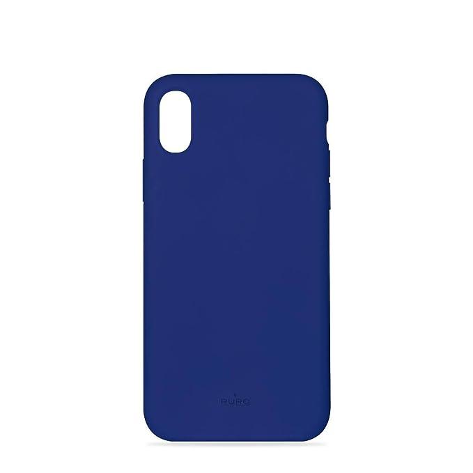 Puro – Carcasa rígida para iPhone X/XS, diseño Azul Icone: Amazon.es: Electrónica