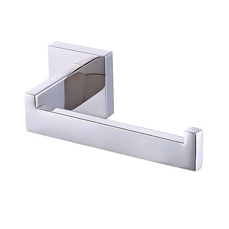 Portarrollos de papel higiénico sin tapa, de acero inoxidable, mate, cromado con montaje a la pared, KES A2570