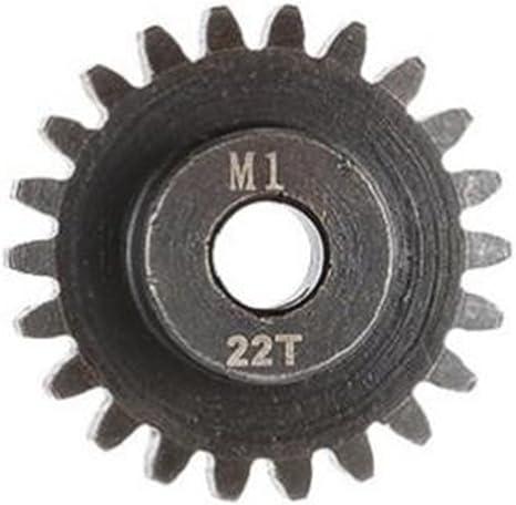 22T Sharplace 3pcs M1 Pignon Gear Engrenages de Moteur Bross/é 3.175mm en M/étal pour 1//8 Rc Voiture Camion 21T 20T