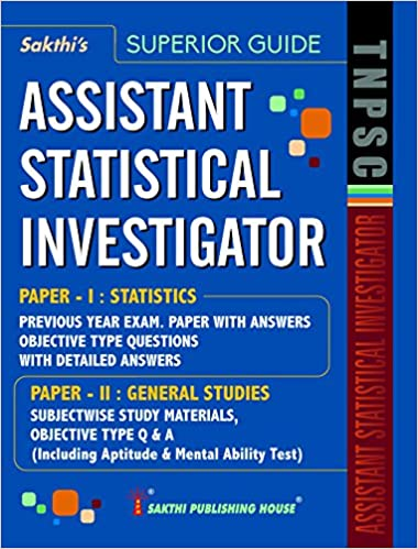 Buy TNPSC STATISTICAL INVESTIGATOR STUDY MATERIALS AND