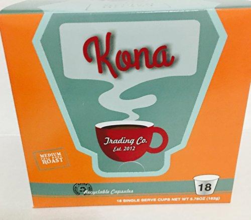 Kona Trading Co. 100% Kona Coffee Isolated Serve K-cups (18-count)