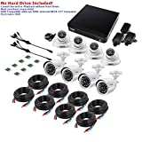 ZOSI 720p HD-TVI Home Security Camera System Full HD, 8 Channel CCTV Dvr Recorder and (8) HD 1.0MP 1280TVL Surveillance Cameras Outdoor/Indoor with Night Vision, Motion Detection (No Hard Drive)