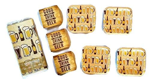 Beers And Cheers Party Bundle 7'' Plates (32) Napkins (48) Tablecover (1) by Party Creations