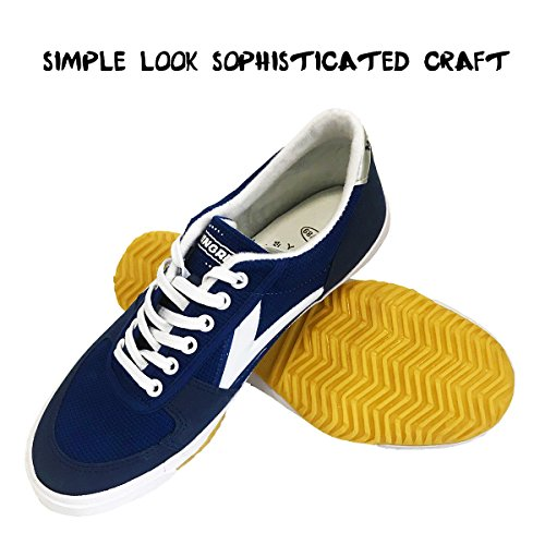 DOUBLESTAR MR Classic Kung Fu Shoes for Martial Arts Parkour Lightweight Sneaker with Rubber Sole-Blue US 11Men/ US 11.5 Women (Martial Arts Shoes Women)