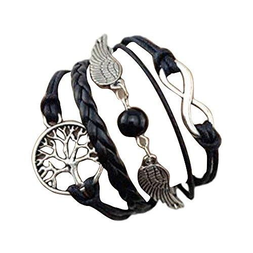 Sunnywill Baum für Leben Flügel mehrschichtigen Armband Armband handgefertigt einstellbar