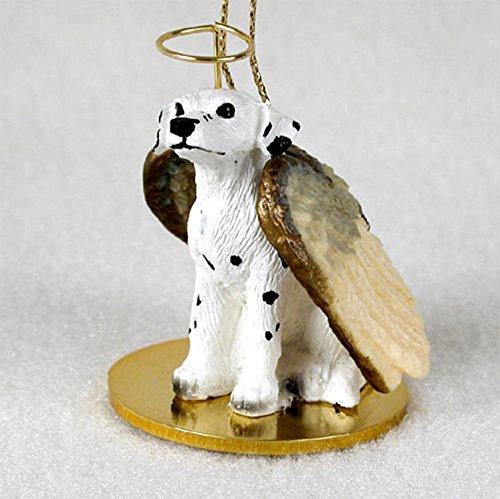 Dalmatian Figurine Dog (Dalmatian Dog Figurine Angel Statue Ornament)