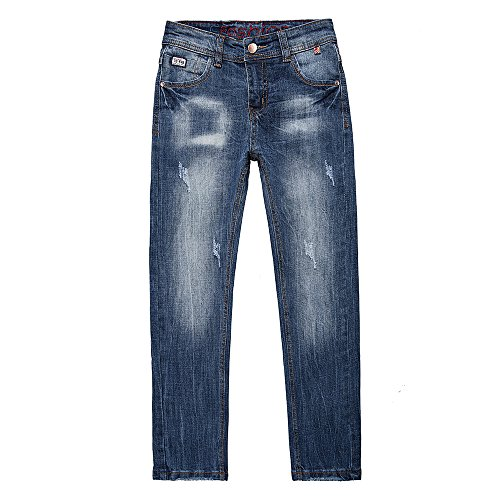 big boys stretch slim fit denim pants Jeans trouser 8 years with holes for children's kids