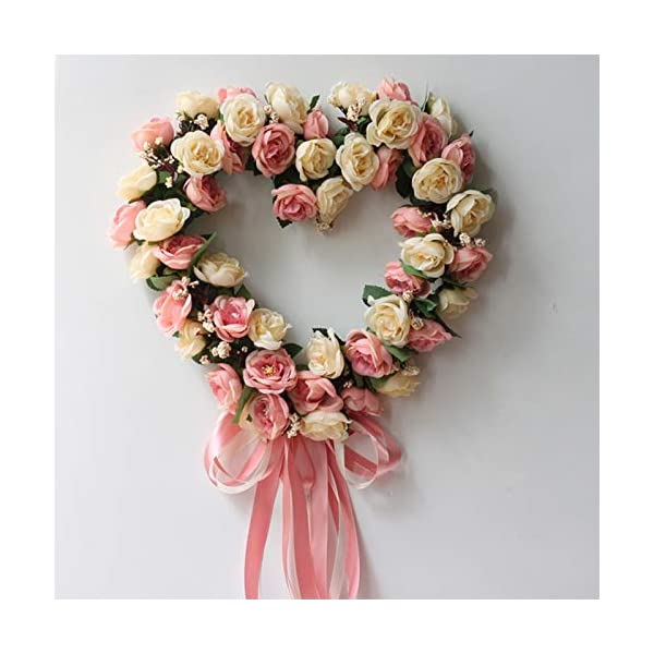 Artificial-Dried-Flowers-Fake-Silk-Rose-Flower-Artificial-Flowers-Hanging-Garland-Wedding-Wreath-Heart-Shaped-Festival-Party-Flowers-Artificial-Dried