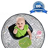 Baby Table Topper & High Chair Cover All-In-One   Dining Space for Children when Eating Out   Waterproof Polyester   Reusable (Dotted Pattern)