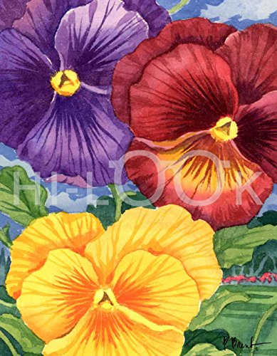 - Hi-Look Microfiber Cleaning Cloth, Flower design - Pansies