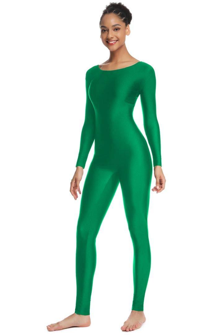 OVIGILY Women's Long Sleeve Unitard Dance Costume Spandex Full Body Suits by OVIGILY