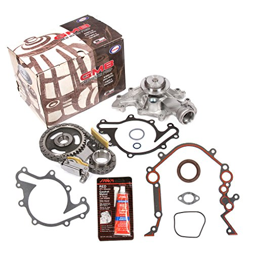 Evergreen TKTCS20500WP2 Fits 96-04 Ford Freestar Windstar Mercury 3.8L OHV 12 Valves Timing Chain Kit Water Pump Timing Cover Gasket -
