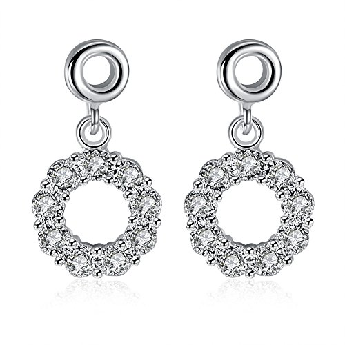 Ring Diamond Earrings Ladies Earrings Birthday Party Earrings